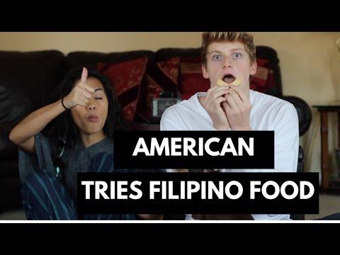 American Tries Filipino Food