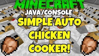 Minecraft 1.12 Simple Automatic CHICKEN FARM Tutorial PC Console Xbox Ps4 Switch