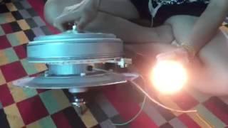 ทดสอบมอเตอร์เครื่องซักผ้าอินเวอเตอร์โตชิบากับหลอด LED 12V 5W