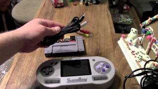 SupaBoy (Portable SNES) Unboxing and Review