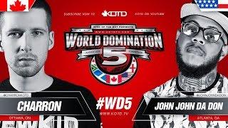 KOTD - Rap Battle - Charron vs John John Da Don | #WD5