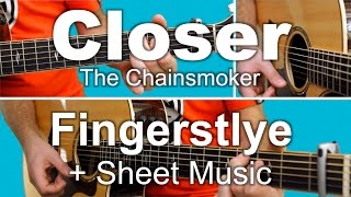 The Chainsmokers - Closer ft. Halsey (Fingerstyle Guitar)