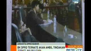 Anggota DPRD Ternate yang Mabuk Terancam Dipecat
