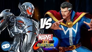 Ultron VS Doctor Strange Marvel vs Capcom Infinite Gameplay
