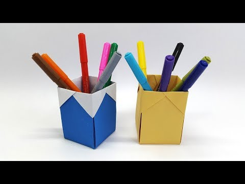 Xxx Mp4 How To Make Pencil Holder Paper Pencil Holder Origami Pen Holder 3gp Sex