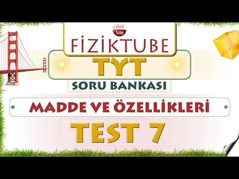 FİZİK TYT SORU BANKASI  |  TEST - 7  |  MADDE VE ÖZELLİKLERİ ( Gaz ve Plazmalar )