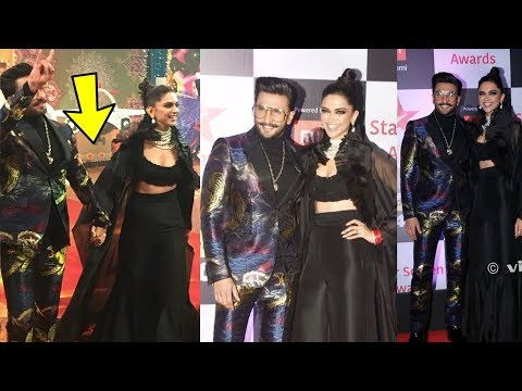 Xxx Mp4 Newlymarried Deepika Padukone And Ranveer Singh Looking So Hot Together For Star Awards 2018 3gp Sex