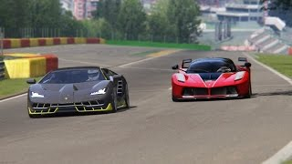 Battle Lamborgini Centenario x Ferarri FXX-K Racing at Spa Francorchamps