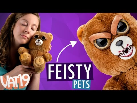 Feisty Pets Sweet to Scary Stuffed Animals