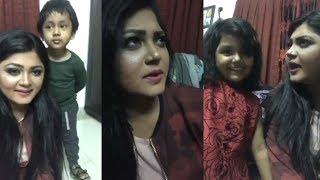 ছেলে ও মেয়েকে নিয়ে ফেসবুক লাইভে এসে একি করলো মৌসুমি হামিদ   Moushumi Hamid Facebook Live   News