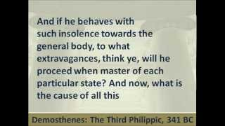 Third Philippic by Demosthenes - Hear and Read the Speech Against King Philip of Macedon