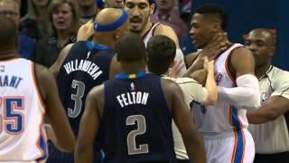 JJ Barea le da bofetada a Russell Westbrook 2016