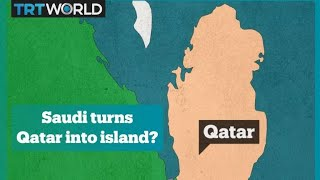 Saudi canal to turn Qatar into an island