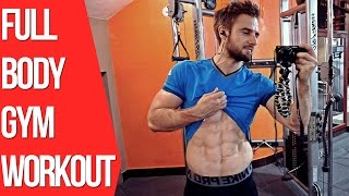 Full Body Workout In The Gym (Training for Mass)