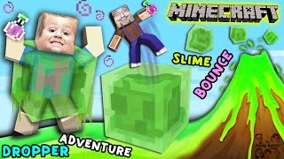 Minecraft Slime Bounce | FGTEEV Dropper Parkour Adventure Mini-Game Map
