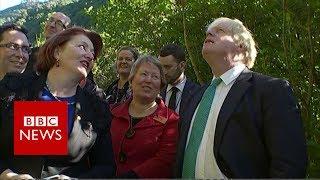 Boris Johnson talks wildlife and obesity in New Zealand- BBC News