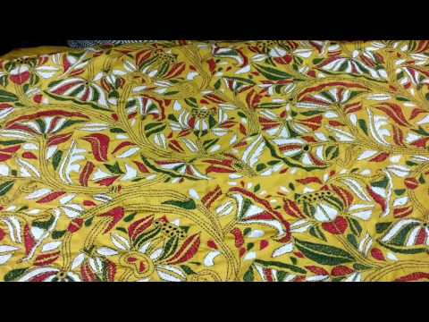Nakshi Kantha embroidery work saree from West Bengal