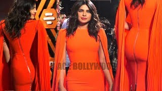 Priyanka Chopra in Red Tight Zipped Dress At  Launch Of Campaign Find The Monbumble