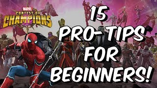15 Pro-Tips For Beginners! - Advice For New Players - Marvel Contest Of Champions