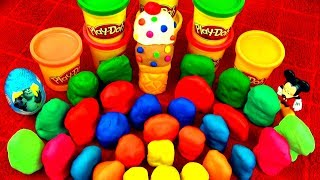 30 Surprise Eggs!! Play Doh Kinder Disney Cars Ice-Cream SpongeBob Angry Birds Super Mario Peppa Pig