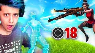18 Kill SNIPER ONLY CHALLENGE Win! (Fortnite Battle Royale LTM)