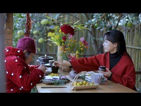 Boil soybean milk steamed purple potato cake eating a good breakfast is a must Liziqi Channel