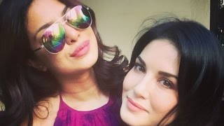 Priyanka Chopra And Sunny Leone Bond In New York