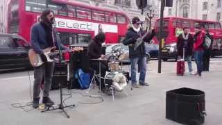 REM, Losing my religion cover - busking in the streets of London, UK