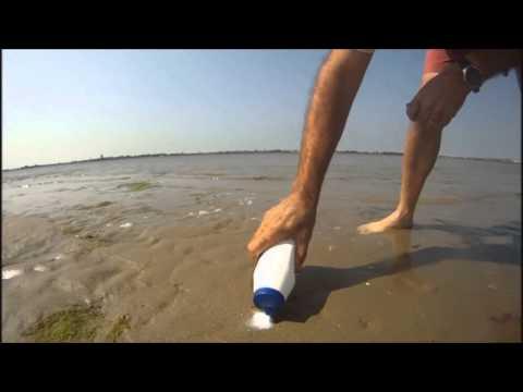 O que acontece se colocar sal na areia da praia