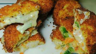 Crispy Cheese Sandwich || Cheese Box Patties || Ramazan Recipe