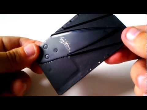Iain Sinclair Cardsharp folding credit card knife
