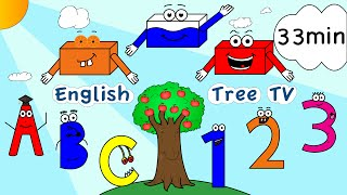 Colors, Numbers, ABC, Phonics, Fruit, Shapes Nursery Rhymes | 33min English Learning Song Collection