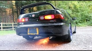 Fire Spitting JDM DC2 Review - Integra Type R with 2 Step Launch Control - PerformanceCars