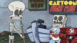 Cartoon Fight Club Episodes Portrayed by SpongeBob