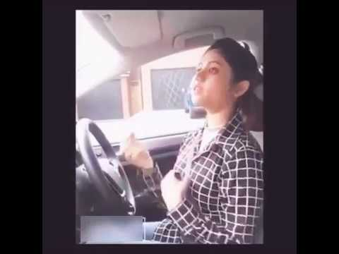 Very cute desi girl learn car driving