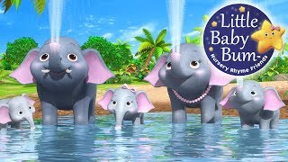 Five Elephants Having A Wash | Nursery Rhymes | Original Song By LittleBabyBum!