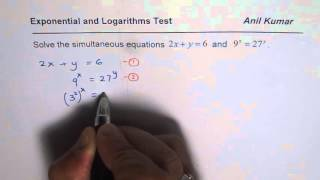 How to Solve Simultaneous Equations with Logarithms