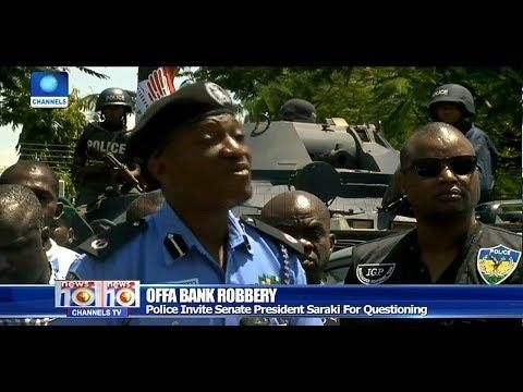 Saraki, Ahmed Deny Links To Offa Bank Robbery Suspects Pt.1 |News@10| 03/06/18
