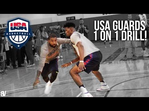 watch USA Basketball 1 on 1 Drill   Team USA Guards Go Head To Head