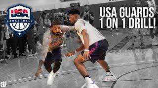 USA Basketball 1 on 1 Drill | Team USA Guards Go Head To Head