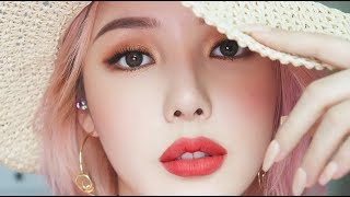 Summer Vacation Makeup🌞 (With subs) 썸머 바캉스 메이크업