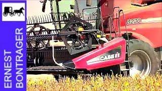 Case IH 8230 Combine in Illinois Bean Harvest