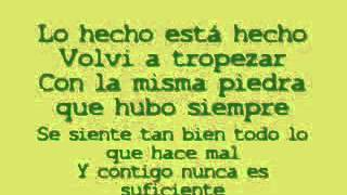 Lo Hecho está Hecho ** Shakira** letra** castellano** espanyol  - YouTube.flv