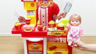 ハンバーガーショップ おもちゃ メルちゃん / Burger Shop Toy , Mell-chan Doll