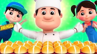 Hot Cross Buns | Nursery Rhymes For Children by Farmees