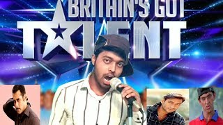 Bollywood Actors Mimicry in Fake Britain's Got Talent | Salman Khan,Hrithik Mimicry Ever By Adarsh