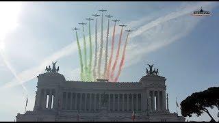 Frecce Tricolori Roma Festa delle Forze Armate 4 Novembre 2017