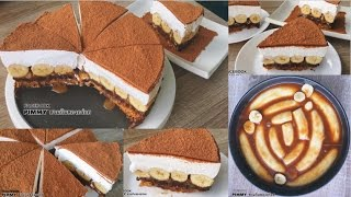 Banoffee pie recipe วิธีทำบานอฟฟี่พาย (No bake)