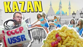 Kazan, Russia on $100. Foobtall, Big Eats and Cheerleaders.