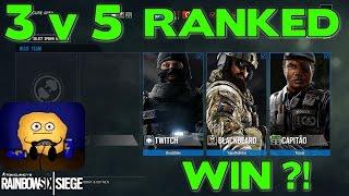 3v5 RANKED WIN!? - Rainbow Six Siege (Skull Rain DLC)
